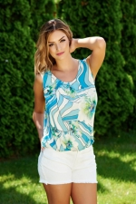 Top de damă LaDonna Flower Joy LightBlue