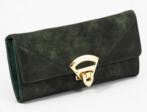 Portofel de damă elegant verde Sorine B.S