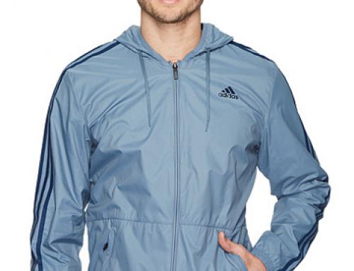 Geacă sport cu glugă și fermoar bărbați Adidas Essentials Wind