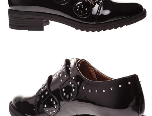 Pantofi damă casual cu ținte metalice și talpă joasă, Aina KLPD