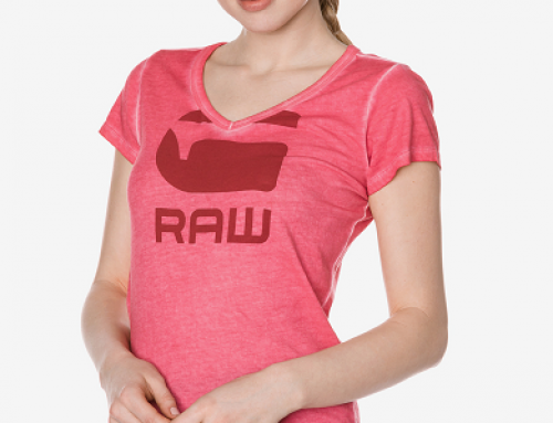 Tricou damă din bumbac cu aspect uzat G-Star RAW Suphe