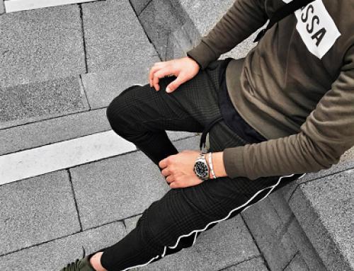 Pantaloni casual conici din bumbac bărbați, verzi, Xlines HSLT