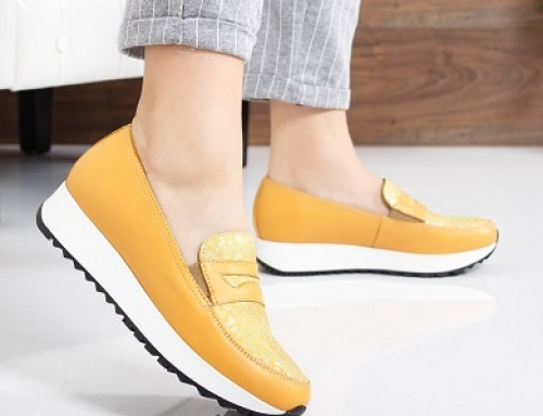 Pantofi de damă cu talpă plată, din piele naturală, Lezon MDLT