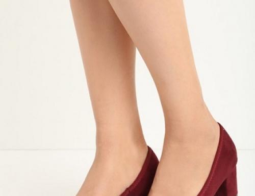 Pantofi damă eleganți de culoare grena, cu toc gros, Phyllis ZPT