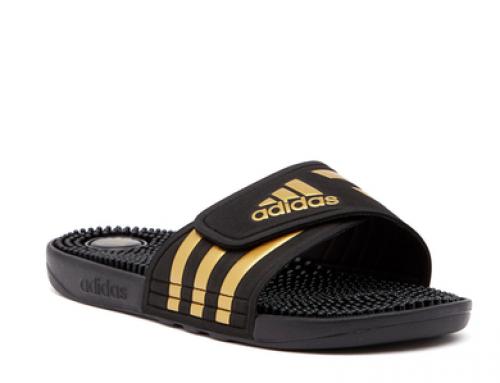 Papuci de plajă bărbați cu masaj Adidas Adissade Slide