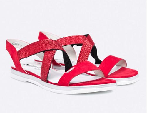Sandale damă cu toc plat și inserție elastică, Big Star