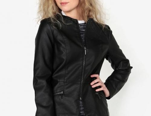 Jachetă de damă scurtă, neagră, ușor cambrată Oasis Faux