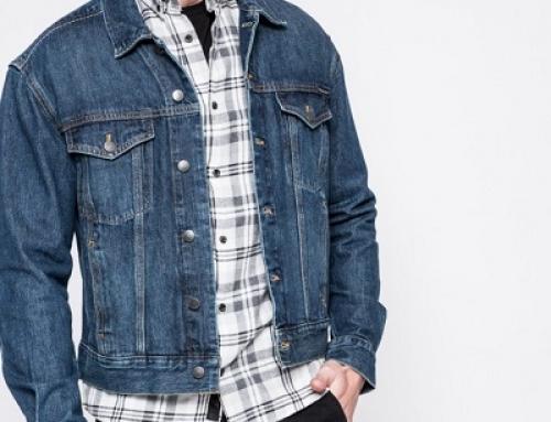 Geacă scurtă și subțire de blugi bărbați Calvin Klein Jeans