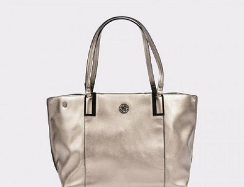 Geantă de damă argintie din piele ecologică FEDY TZ