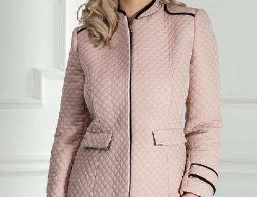 Jachetă de damă elegantă roz, cu guler tunică, Amira Dyf