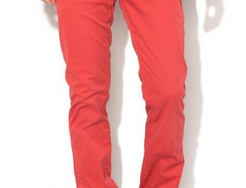 Pantaloni Casual Roșii Din Bumbac Pentru Bărbați Pepe Jeans