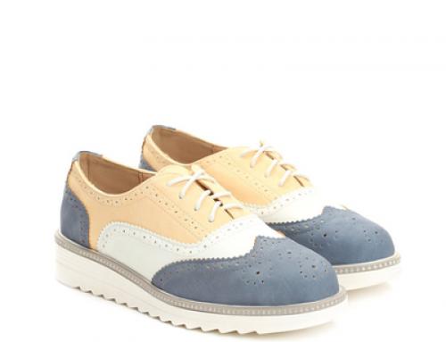 Pantofi damă tip Oxford cu platformă și perforații, Hema