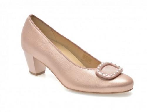Pantofi de damă eleganți din piele naturală, roz, Ara