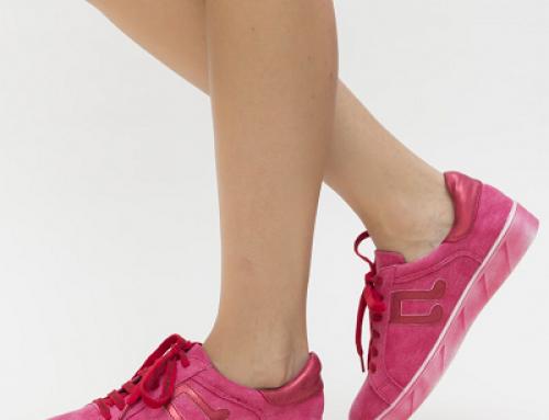 Pantofi sport de damă roșii, cu talpă joasă, Sportif Dep
