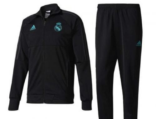 Trening slim fit pentru bărbați Adidas Real Madrid Pes Suit