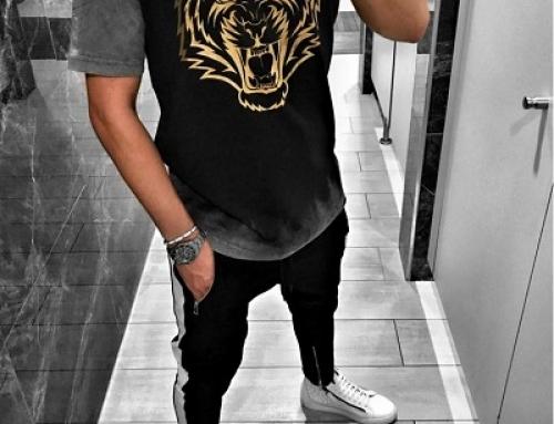 Tricou din bumbac cu aspect slim fit pentru bărbați Hoon Hslt