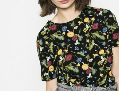 Tricou De Damă Din Bumbac Și Cu Imprimeu Floral Medicine