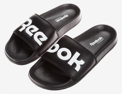 Șlapi sport de plajă pentru bărbați, negri, Reebok