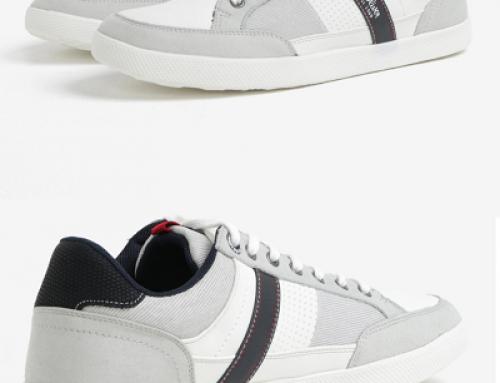 Pantofi sport gri cu talpă plată și perforații pentru bărbați s.Oliver