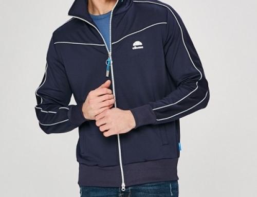 Bluză sport cu fermoar și buzunare pentru bărbați Ellesse, albastră