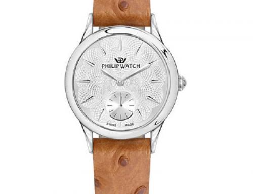 Ceas damă cu brățară din piele Philip Watch R8251596504