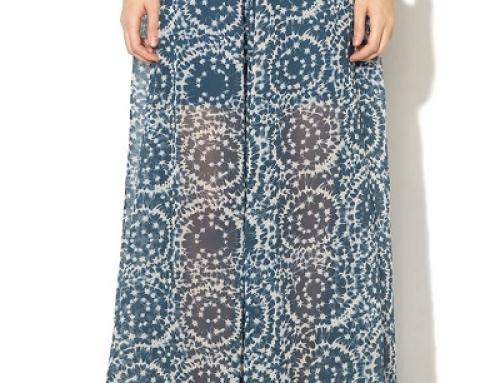 Fustă lungă de vară vaporoasă cu imprimeu abstract Pepe Jeans