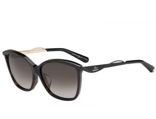 Ochelari de soare damă polarizați cu lentile maro Dior Metal F 6NY/HA