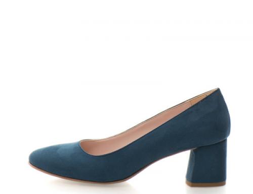 Pantofi de damă eleganți albastru petrol și cu toc masiv Zee Lane Collection