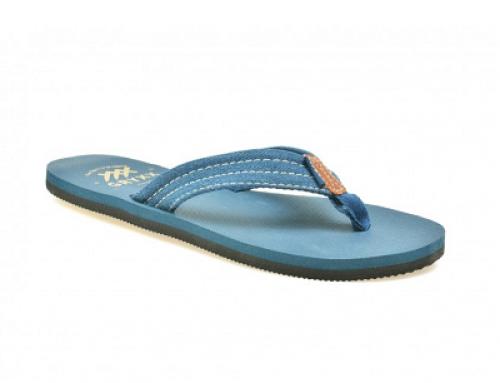 Papuci de plajă albaștri cu talpă joasă bărbați Gryxxx BK3708299