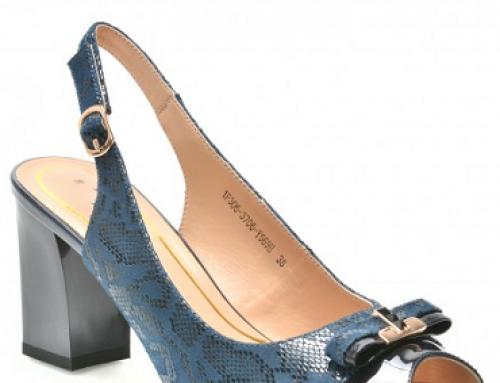 Sandale damă elegante cu model decorativ, piele naturală, F. Passini 1F306