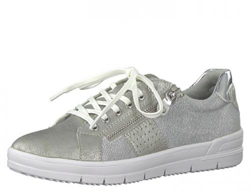 Pantofi sport damă argintii cu branț cu spumă de memorie Tamaris Comb