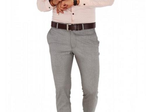 Cămașă elegantă slim fit cu imprimeu discret pentru bărbați Oliver DH