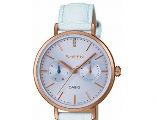 Ceas de damă Casio Sheen SHE-3054PGl-2AUER, 5 ATM, Quartz