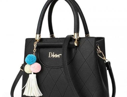 Geantă de damă casual neagră accesorizată cu franjuri, Dalina B.S