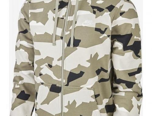 Hanorac cu glugă și imprimeu camuflaj bărbați Nike Sportswear aq0596-072