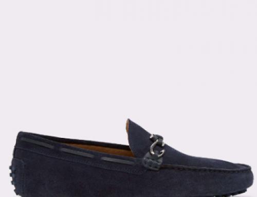 Mocasini bleumarin din piele naturală pentru bărbați Roxbury D6N4