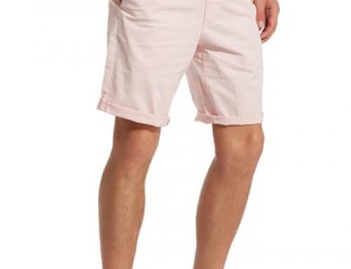 Pantaloni scurți Chino roz din bumbac pentru bărbați Wrangler