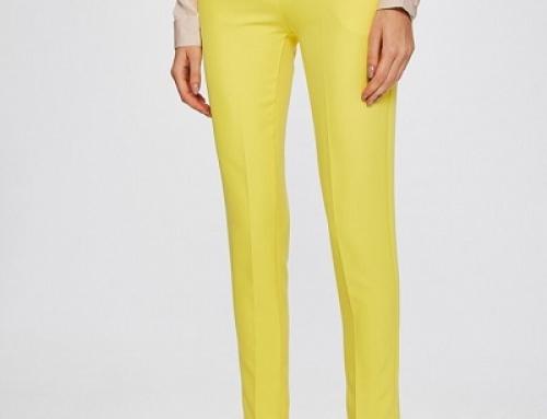 Pantaloni de damă eleganți galbeni, croi conic, Answ-SPD03S