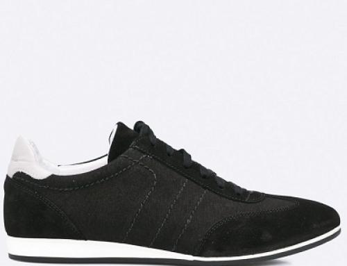 Pantofi casual din piele naturală negri pentru bărbați, Gino Rossi U032
