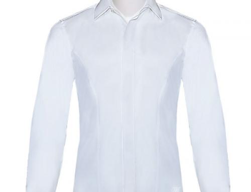 Cămașă elegantă albă slim fit din bumbac pentru bărbați, Ceremony