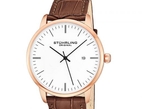 Ceas cu brățară din piele pentru bărbați Stuhrling, 5 ATM, Quartz