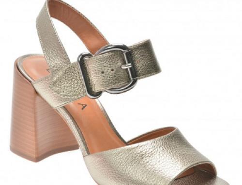 Sandale damă office argintii cu toc gros, piele naturală, Epica Zs763