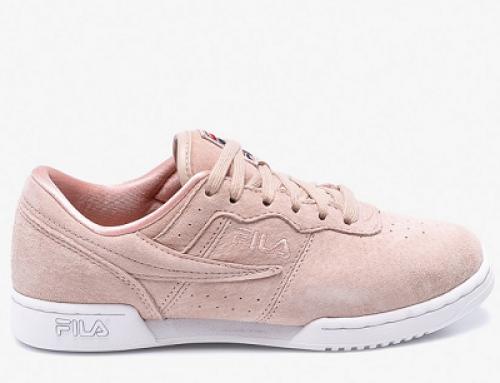 Pantofi sport de damă roz din piele naturală întoarsă Fila 97.70P