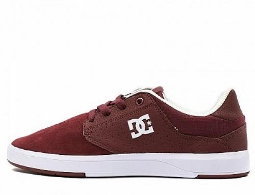 Pantofi sport din piele întoarsă și cu talpă plată, bărbați, DC Plaza TC S