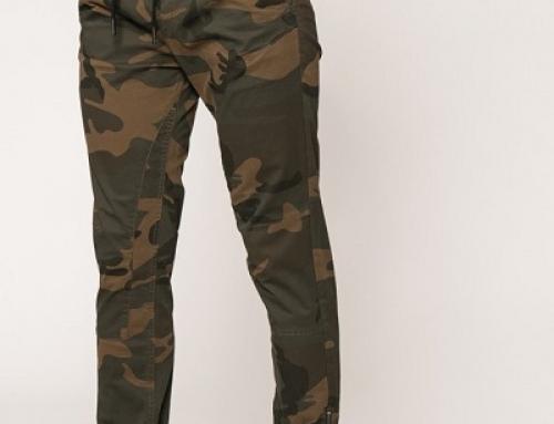 Pantaloni slim fit și cu imprimeu camuflaj, bărbați, Jack & Jones Vega
