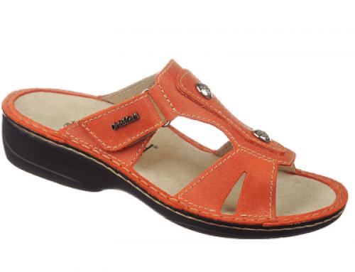 Papuci damă ortopedici și ușori, din piele naturală, KMP3706