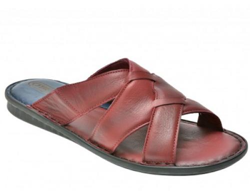 Papuci din piele naturală și cu talpă căptușită pentru bărbați Otter Ak76