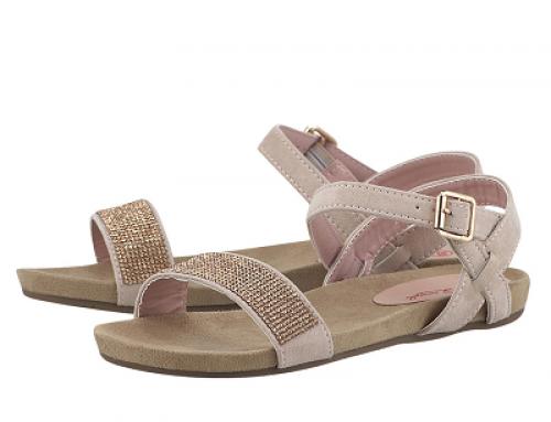 Sandale de damă cu talpă joasă și accesorizate cu strass, Louvel Women's