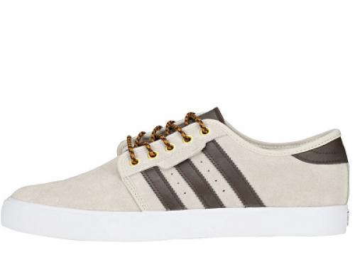 Pantofi sport bej din piele naturală întoarsă pentru bărbați Adidas Seeley