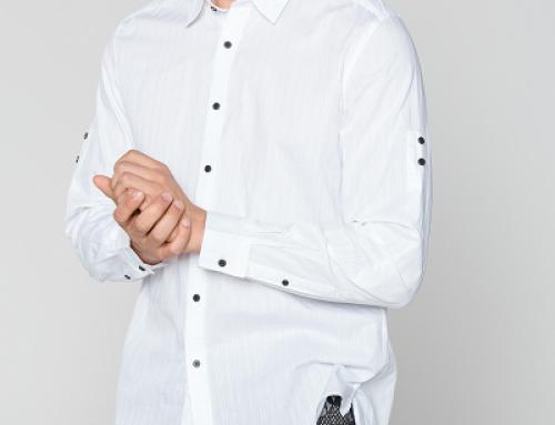 Cămașă albă casual din bumbac neted pentru bărbați Antony Morato